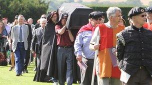 Historical re-enactment of Queen Katherine Parr's funeral