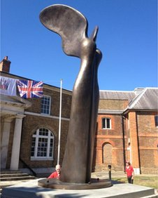 Nike statue at Royal Arsenal