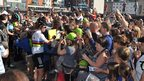 Bradley Wiggins and Mark Cavendish sign autographs for fans in Ipswich