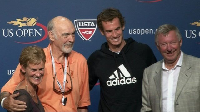 Judy Murray, Sir Sean Connery, Andy Murray and Sir Alex Ferguson