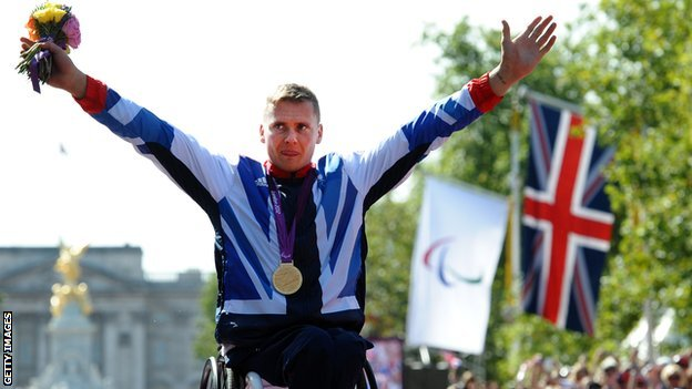 David Weir wins Paralympic marathon