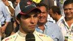 Sauber's Sergio Perez
