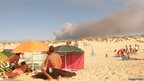 Fire on beach in Portugal. Photo: Jacques Woolston