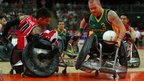 Ryley Batt of Australia in action during the mixed wheelchair rugby gold medal match against Canada