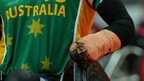 Chris Bond of Australia in action during the mixed wheelchair rugby gold medal match against Canada