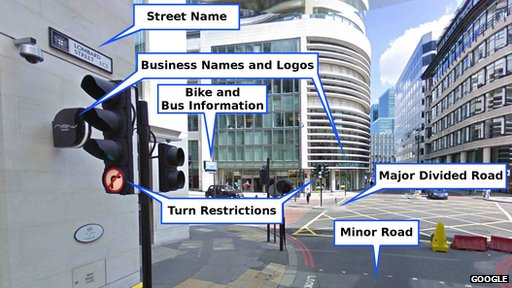 Annotated Street View image