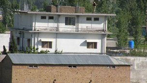 The compound in Abbottabad in north-west Pakistan where Bin Laden was shot dead