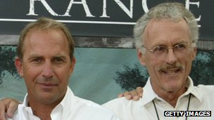 Jake Eberts with Kevin Costner (left)