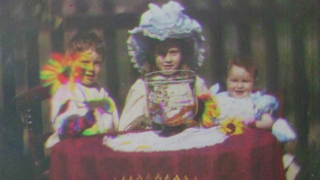 Image from earliest colour moving film