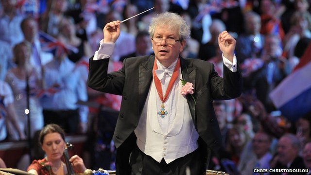 Jiri Belohlavek wearing his CBE at the Last Night of the Proms
