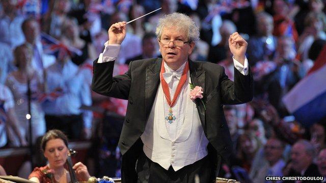Jiri Belohlavek wearing his CBE at the Last Night of the Proms