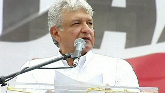 The runner-up in Mexico&#039;s presidential elections, Andres Manuel Lopez Obrador