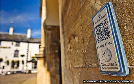 A QR code in Monmouth