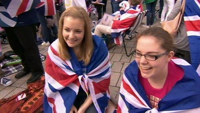 Spectators at Trafalgar Square
