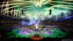 Fireworks light up the sky during the closing ceremony of the London 2012 Paralympic Games at Olympic Stadium in London, England.
