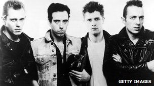 The Clash:  Left to right: Paul Simonon, Mick Jones, Pete Howard and Joe Strummer