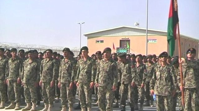 Soldiers at Bagram prison