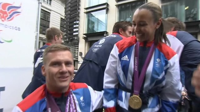 David Weird and Jessica Ennis