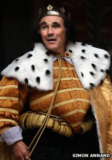 Mark Rylance as Richard III at the Globe theatre
