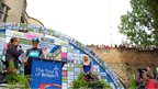 Bradley Wiggins was welcomed by thousands of people