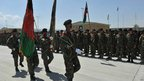 Afghan troops on parade at Bagram - 10 September