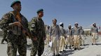 Afghan army soldiers and released prisoners - 10 September