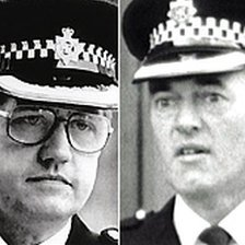 Police officers David Duckenfield and Bernard Murray