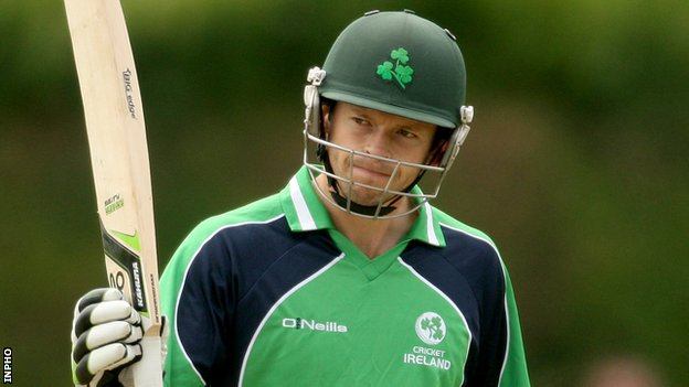 Ed Joyce hit an unbeaten 53 in Monday's game in Colombo