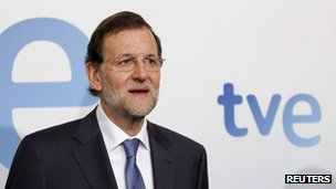 PM Rajoy at the TV interview