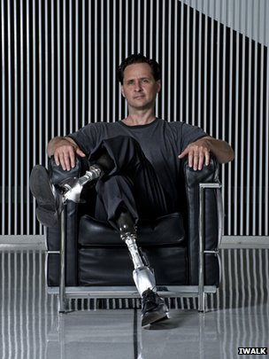 Hugh Herr with his bionic legs