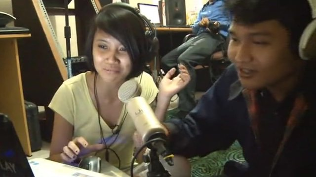 Indonesian pirate radio station