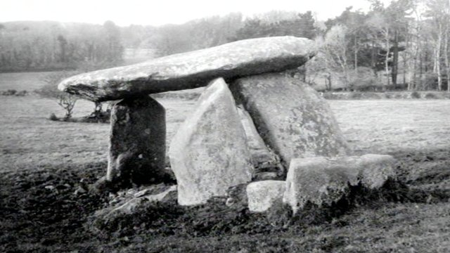 Carwynnen Quoit as it looked more than 40 years ago