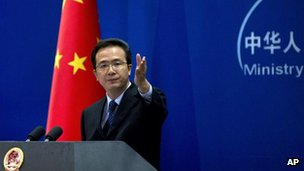 File picture of Hong Lei, China's foreign ministry spokesman on 5 September, 2012