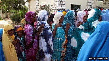 Women queue to vote, Hergeisa, Somaliland, 2010