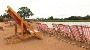 Man-made beach in Fillongley