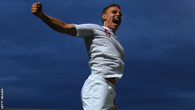 Connor Wickham celebrates scoring for England&#039;s Under-21 team