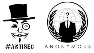 Antisec and Anonymous logos