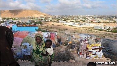 Displaced Somalis, near Galkayo, Puntland, 2009