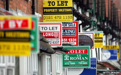 'To let' signs on properties