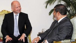 William Hague's meeting in Cairo was the first high-level one between the new Egyptian president and the UK government
