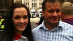 Richard Start and Gold medal winning cyclist, Victoria Pendleton