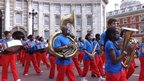 Band at Admiralty Arch. Photo: Kruti Shah