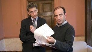 Peter Capaldi and Armando Iannucci