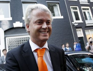 Geert Wilders in Amsterdam, 4 September