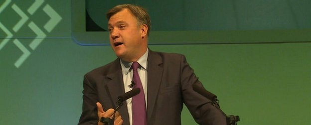 Ed Balls at the TUC gathering