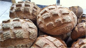 Sourdough loaves from Mark's Bread, Bristol