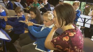 Children taking part in the In Harmony project