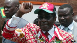 Robert Mugabe (file photo)