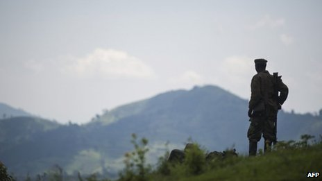 A Congolese soldier in eastern DR Congo