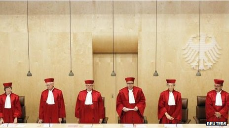 Judges of the second senate of German Constitutional Court, 19 June 2012